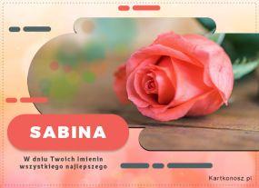 Sabina - Kartka Imieninowa