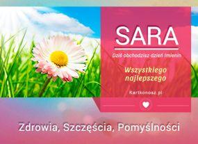 e Kartki  z tagiem: e-Kartki na imieniny Sara - Kartka Imieninowa,