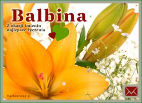 eKartki Imieniny Życzenia dla Balbiny,