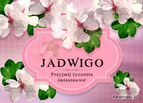 e Kartki  Życzenia dla Jadwigi,