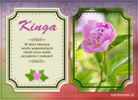 eKartki Imieniny Życzenia dla Kingi,