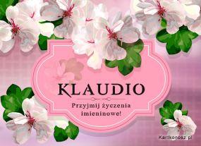 Życzenia dla Klaudii