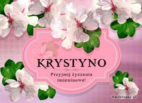 Życzenia dla Krystyny
