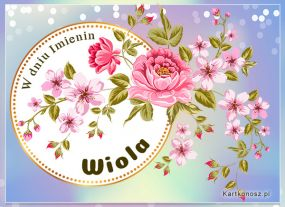 eKartki Imieniny Życzenia dla Wioli,