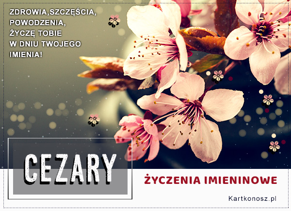 Cezary - Kartka Imieninowa