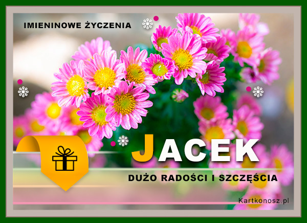 Kwiaty dla Jacka