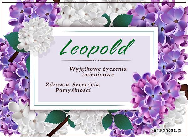 Leopold - Kartka Imieninowa