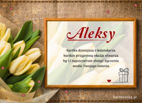 eKartki Imieniny Aleksy - Kartka Imieninowa,