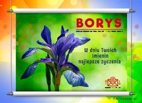 Borys - Kartka Imieninowa