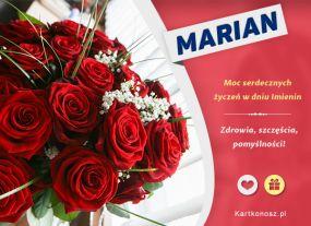 e Kartki Imieniny -> Imienne Męskie Bukiet dla Mariana,