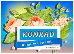 e Kartki  z tagiem: Kartka na imieniny Dla Konrada,