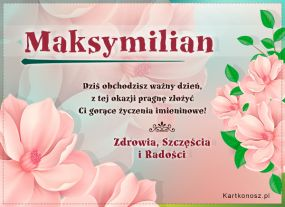 Dzień Imienin Maksymiliana