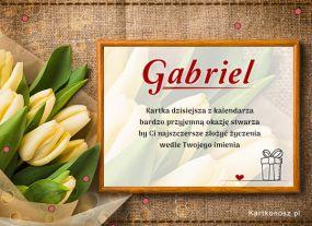 e Kartki  Gabriel - Kartka Imieninowa,