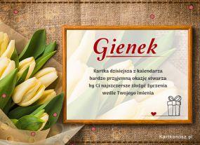 Gienek - Kartka Imieninowa