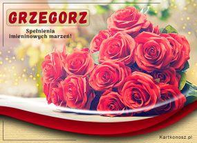 Imieninowe róże dla Grzegorza