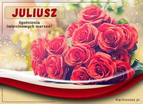 Imieninowe róże dla Juliusza