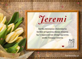 Jeremi - Kartka Imieninowa