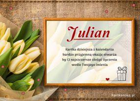 Julian - Kartka Imieninowa