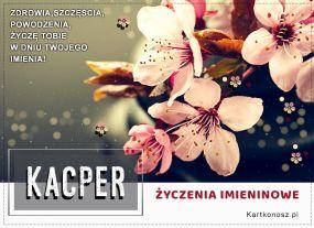 e Kartki Imieniny -> Imienne Męskie Kacper - Kartka Imieninowa,