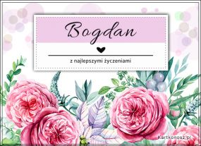 Kartka dla Bogdana