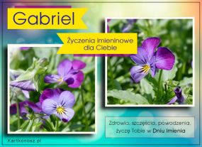 Kartka dla Gabriela