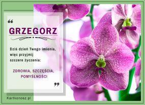 Kartka dla Grzegorza