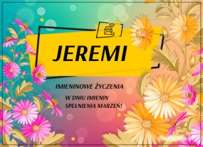 eKartki Imieniny Kartka dla Jeremiego,