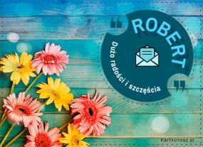 Kartka dla Roberta