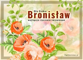 eKartki Imieniny Kwiaty dla Bronisława,