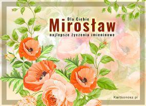 eKartki Imieniny Kwiaty dla Mirosława,