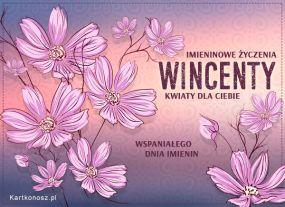 e Kartki  Kwiaty dla Wincentego,