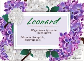 Leonard - Kartka Imieninowa
