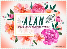 e Kartki  z tagiem: e-Kartki na imieniny Poczta kwiatowa dla Alana,