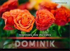 eKartki Imieniny Róże dla Dominika,