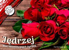 e Kartki  z tagiem: e-Kartki na imieniny Róże dla Jędrzeja,