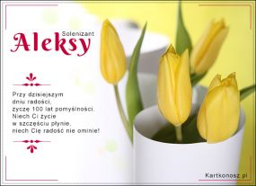 Solenizant Aleksy