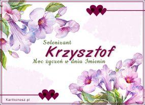 Solenizant Krzysztof