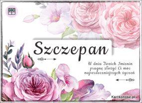 Szczepan - Kartka Imieninowa