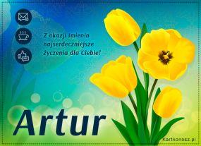 e Kartki  z tagiem: e-Kartki na imieniny Tulipany dla Artura,