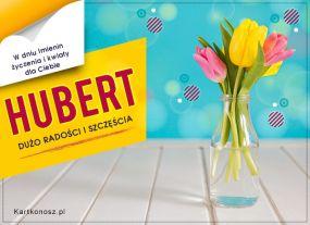 eKartki Imieniny Tulipany dla Huberta,