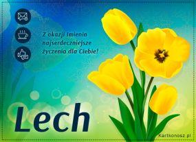eKartki Imieniny Tulipany dla Lecha,