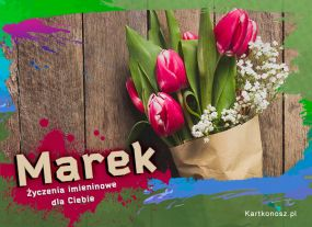 eKartki Imieniny Tulipany dla Marka,