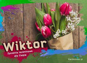 e Kartki Imieniny -> Imienne Męskie Tulipany dla Wiktora,