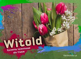 eKartki Imieniny Tulipany dla Witolda,