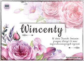 Wincenty - Kartka Imieninowa