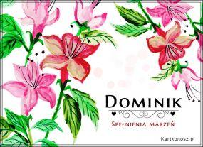 Życzenia dla Dominika