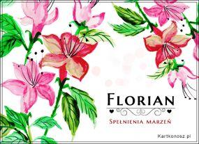 Życzenia dla Floriana