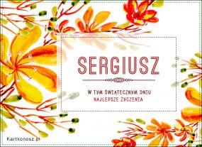 eKartki Imieniny Życzenia dla Sergiusza,