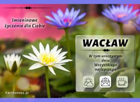 Życzenia dla Wacława