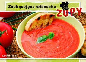 Zachęcająca miseczka zupy